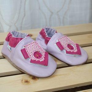 ROBEEZ Soft Baby Mocassins Purple Pink 6-12 Months